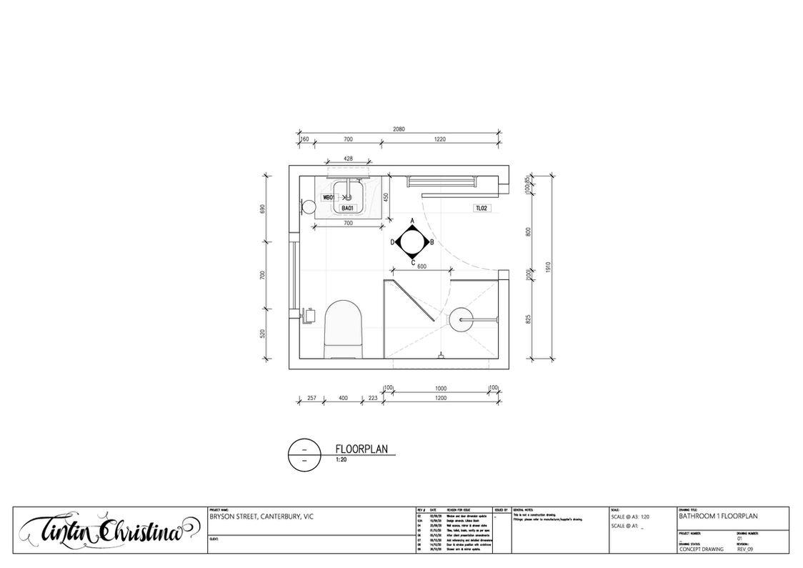 Guest Bathroom Floorplan (Design Intent)