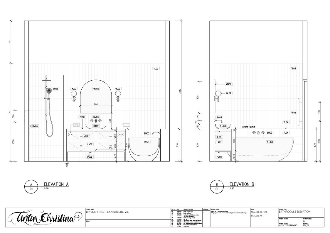 Bathroom Elevation (Design Intent)