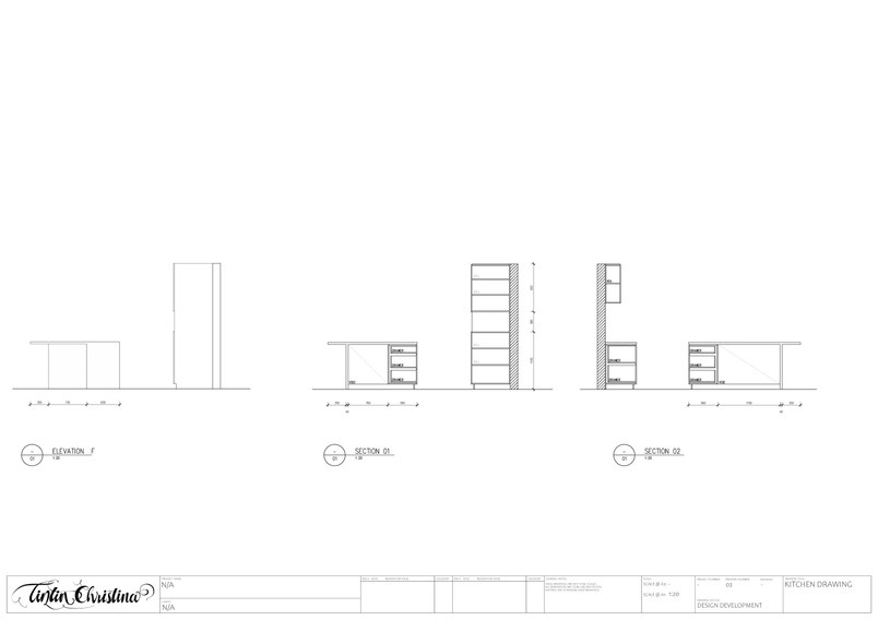 Kitchen CAD Section Drawing (Design Visualisation)