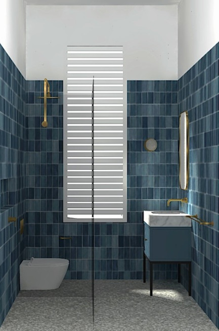 Guest Bathroom 3D Render