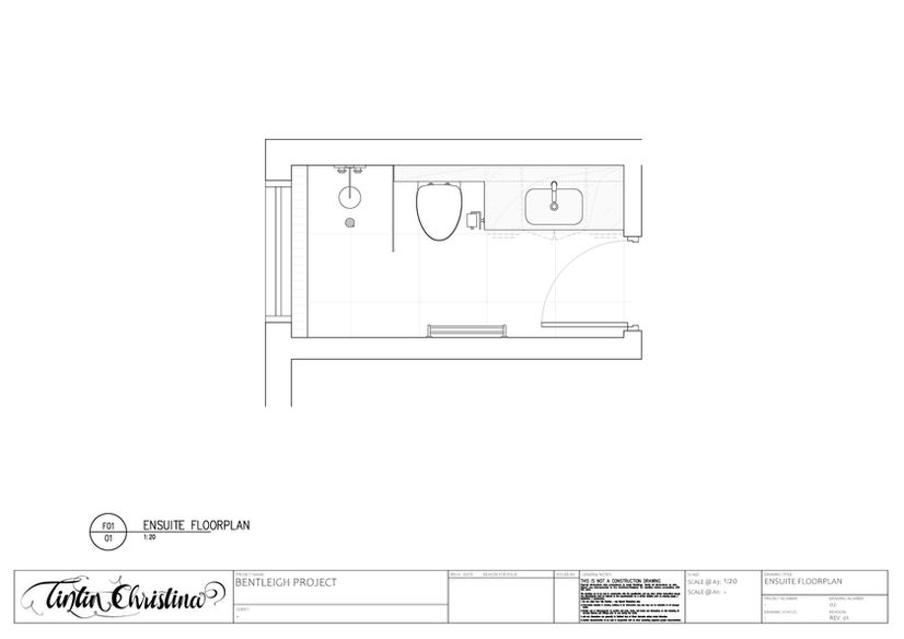 Ensuite Floorplan (Design Visualisation)