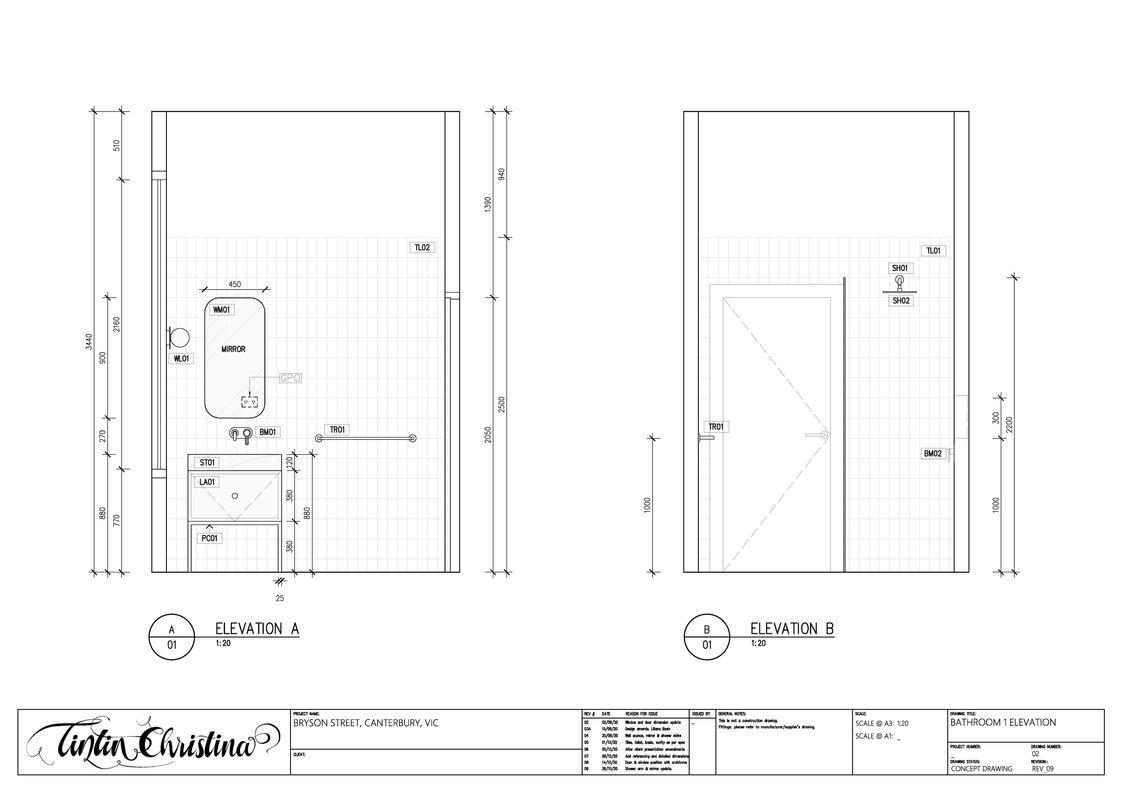 Guest Bathroom Elevation (Design Intent)
