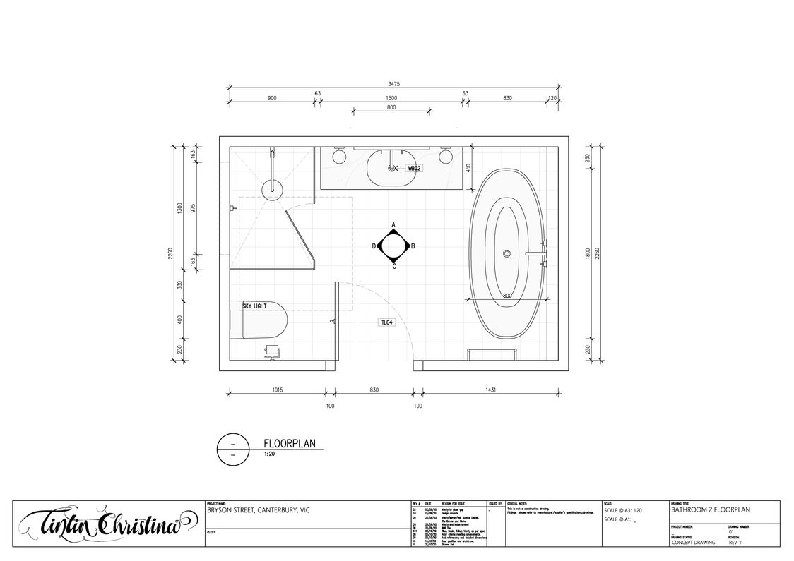 Bathroom Floorplan (Design Intent)