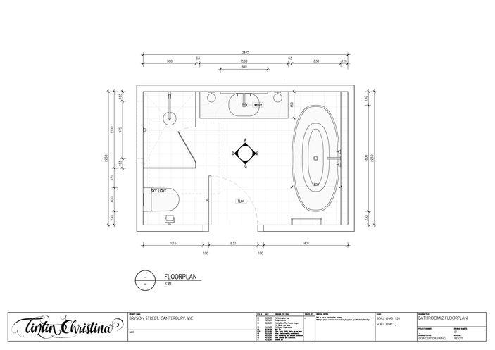 Bathroom Floorplan (Design Visualisation)