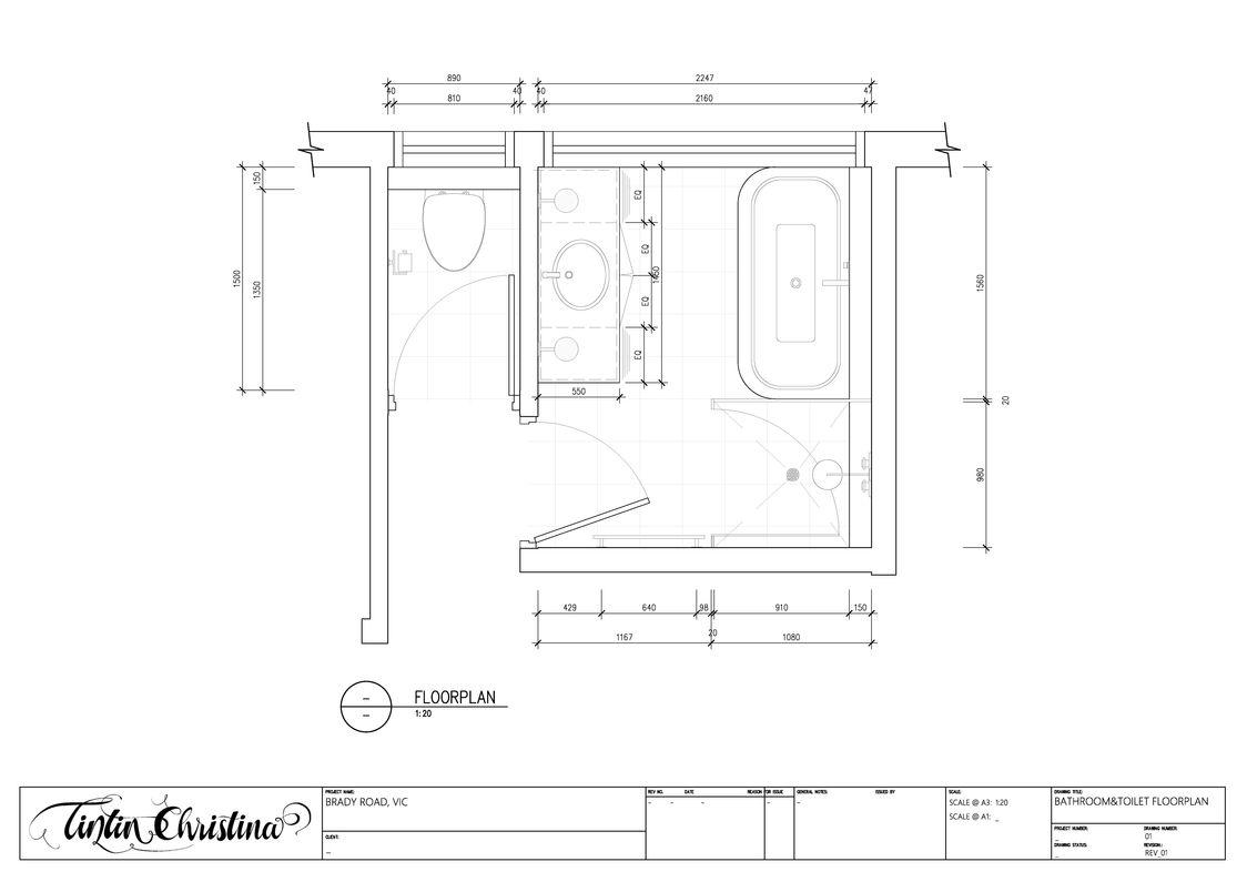 Bathroom CAD Floorplan (Design Intent)