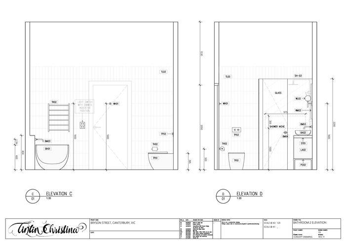Bathroom Elevation (Design Visualisation)