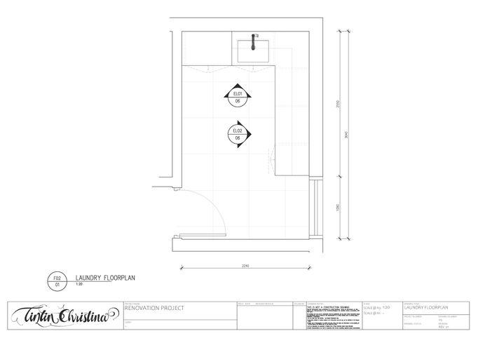 Laundry Floorplan CAD Drawing