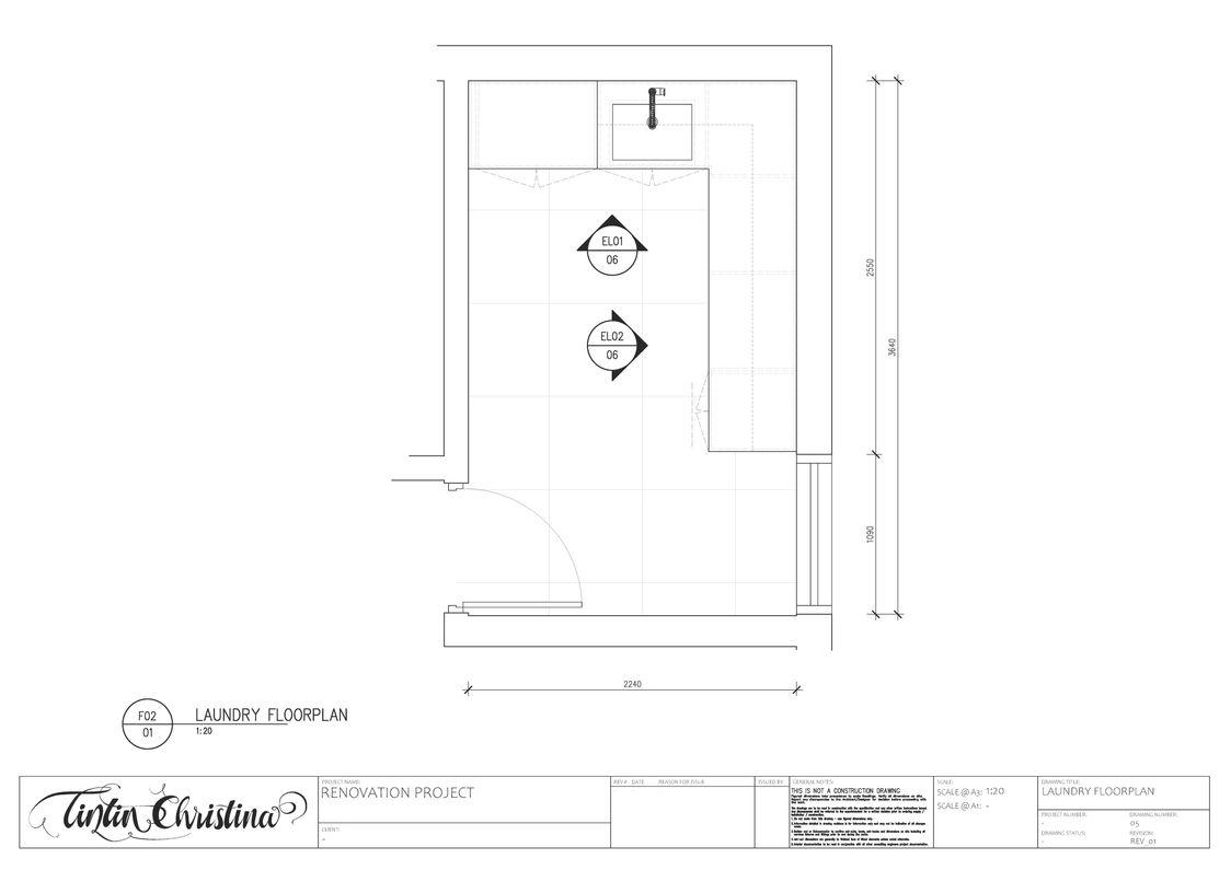 Laundry CAD Floorplan (Design Intent)
