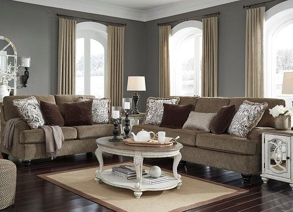 Braemar Brown Sofa and Loveseat