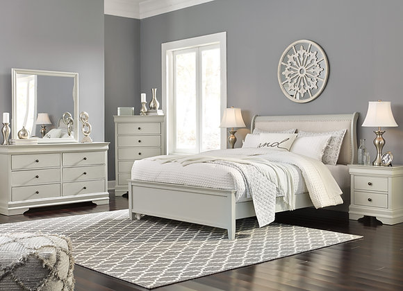 Jorstad Gray 6pc Sleigh Bedroom