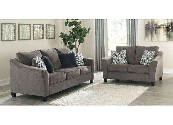 Nemoli Slate Sofa and Loveseat