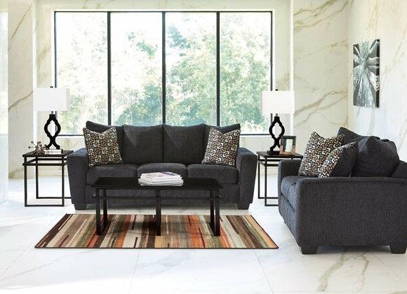 Wixon Slate Sofa and Loveseat