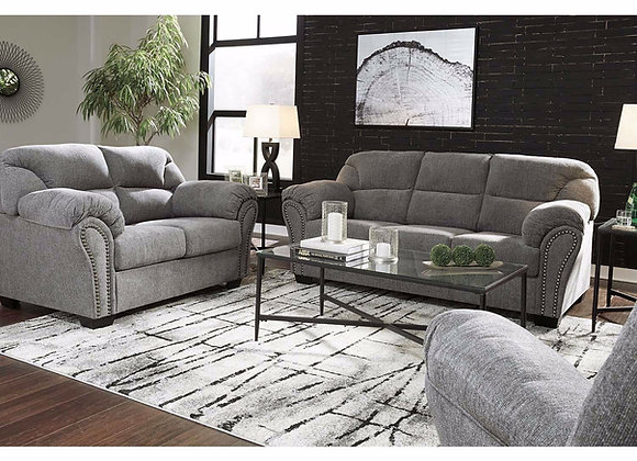 Allmax Pewter Sofa and Loveseat