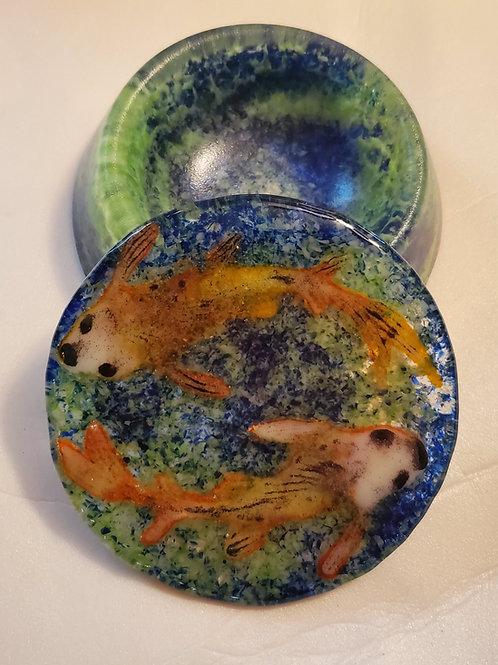Fused Glass Koi Box