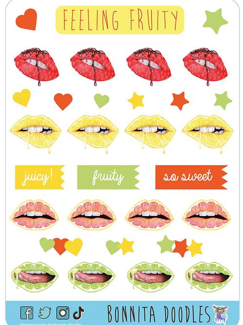 Feeling Fruity sticker sheet