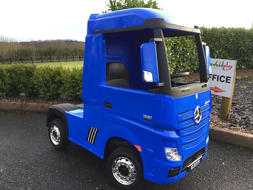 Licensed Mercedes-Benz Actros 4WD 24V* Ride On Lorry - Blue