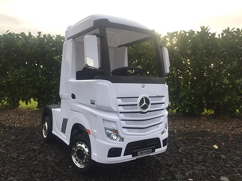Licensed Mercedes-Benz Actros 4WD 24V* Ride On Lorry - White