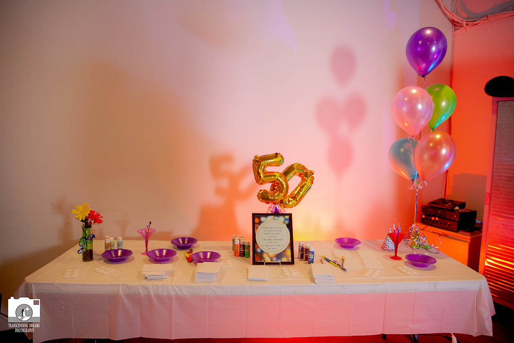 Backlighting for Party Table