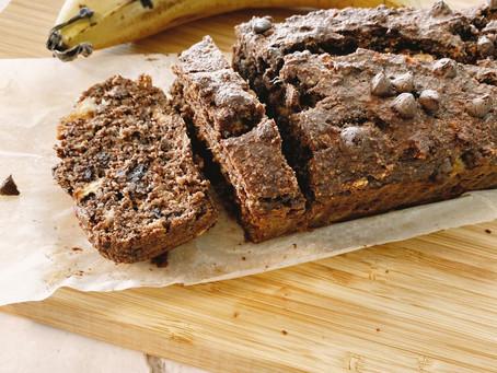 לחם בננה שוקולד