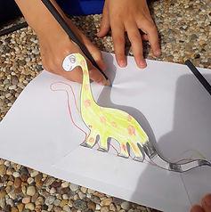 Shadow of a dinosaur © minicreativity.jp