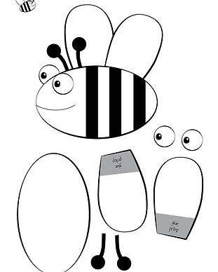 Bee ©minicreativity This activity is designed to raise questions about bees and honey making. It encourages children to play outside and explore nature, observe and ask and give some tips how everyone can help saving bees. And you parents, get ready to answer those questions :) In fact, did you know that honey is the only food made by insect that is eaten by us humans and the insect itself?