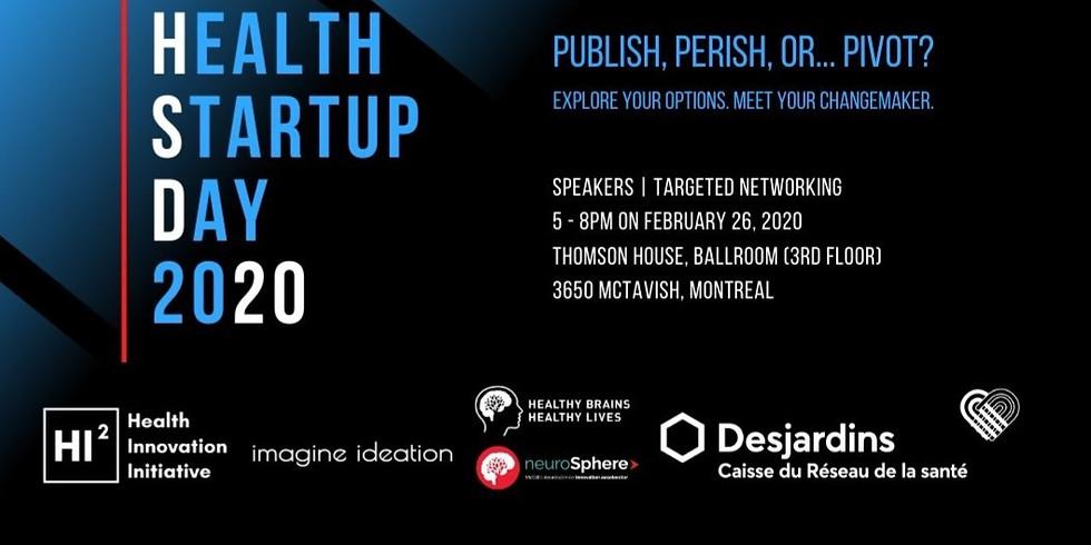 Health Startup Day 2020 | Journée de démarrage de la santé 2020