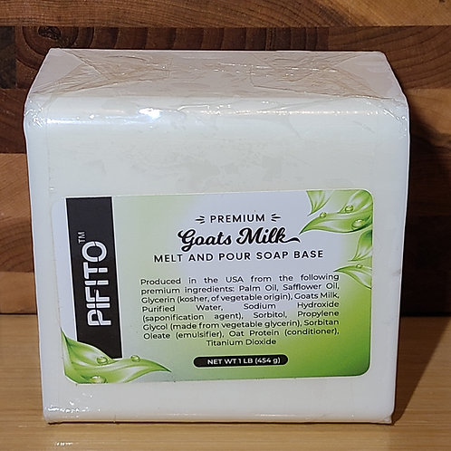 Melt and Pour Soap Base │ 1lb of Goats Milk Soap Base │ Glycerin Soap Making Sup