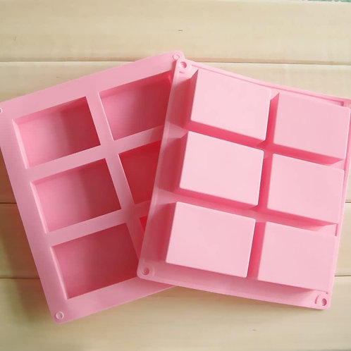 6 Cavity Silicone Soap Mold (Also Great For Baking!!!)