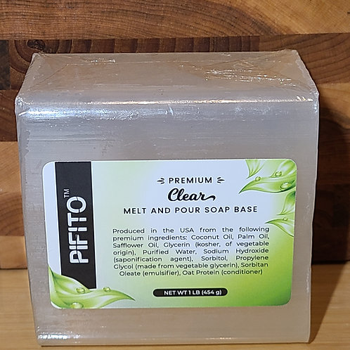 Melt and Pour Soap Base │ 1lb of Clear Soap Base │ Glycerin Soap Making Supplies