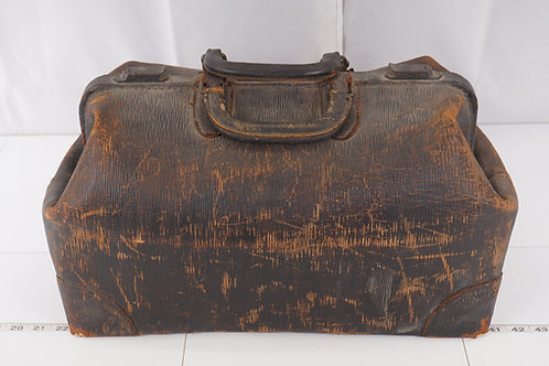 Leather Doctors Bag Ca 1910s