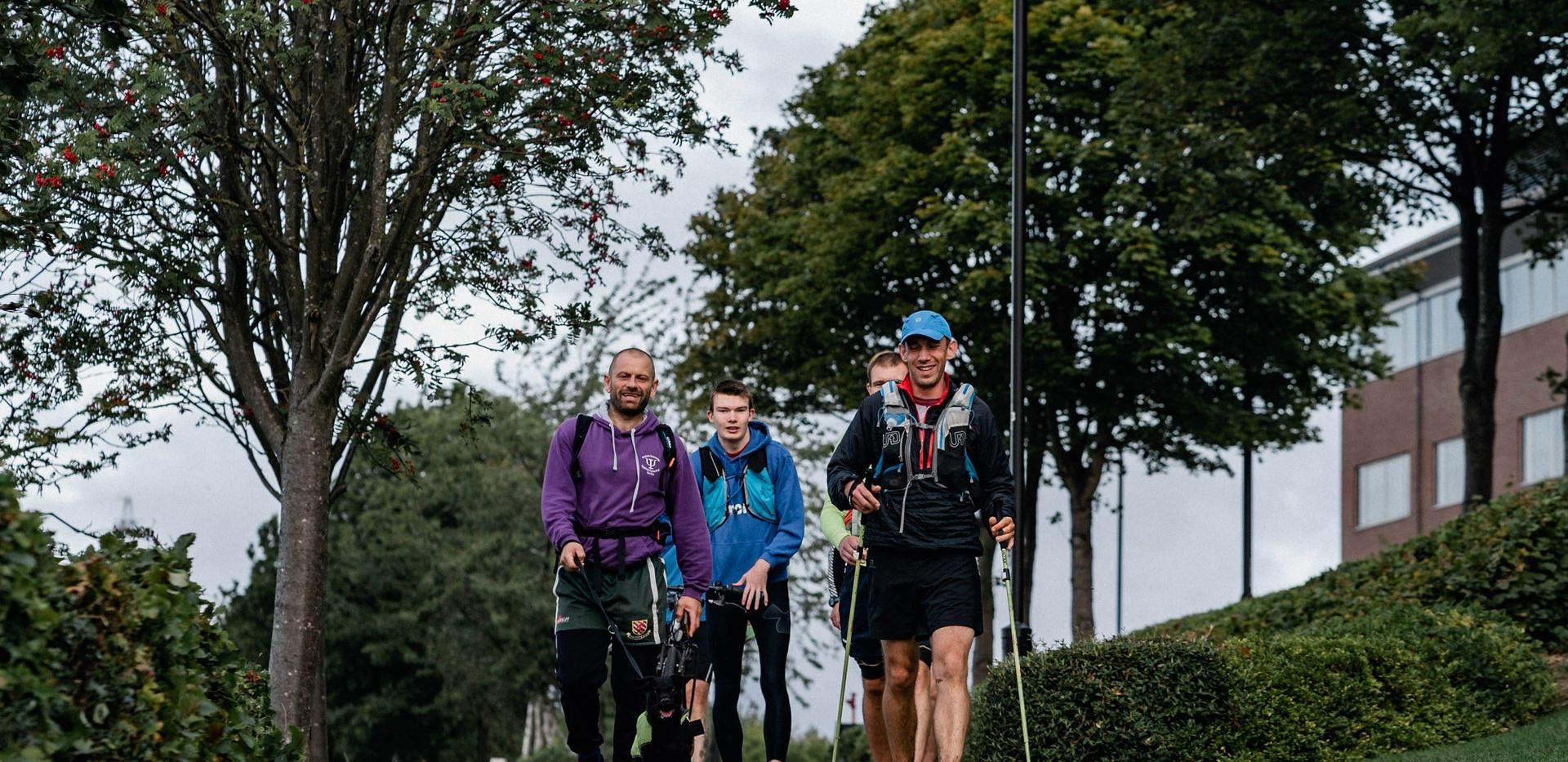 Molly Leading the Way Along the Tyne