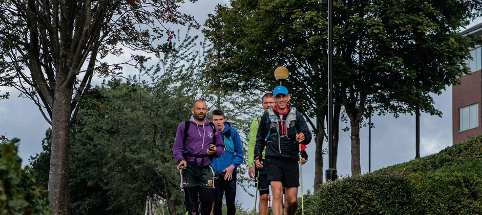 The Group Entering the Path by the Tyne