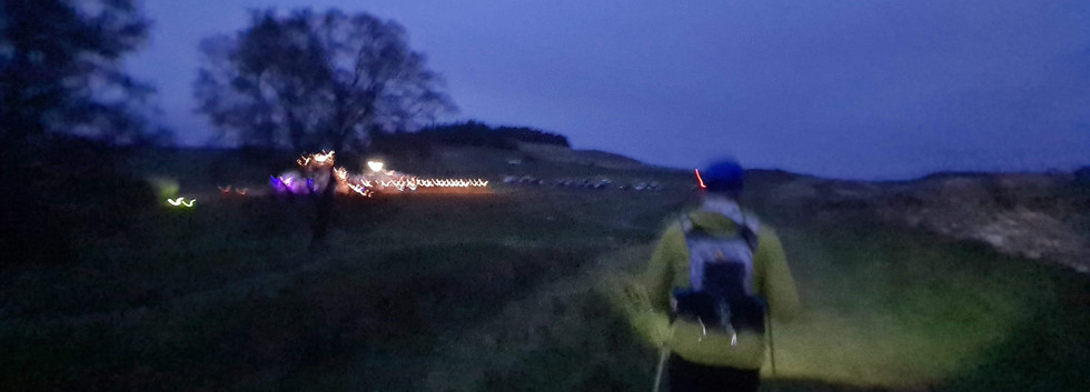 Head Torches On for the Start of the Night Section