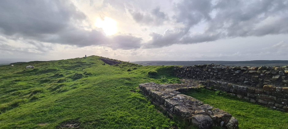 Milecastle and Wall Looking West