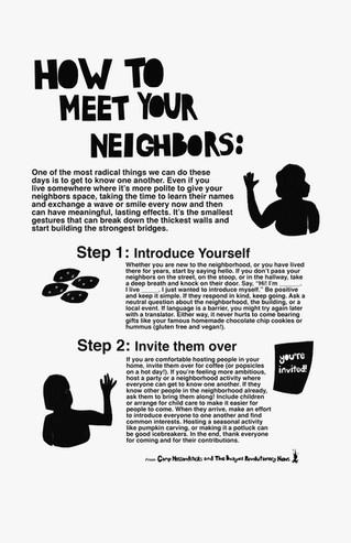 How To Meet Your Neighbors