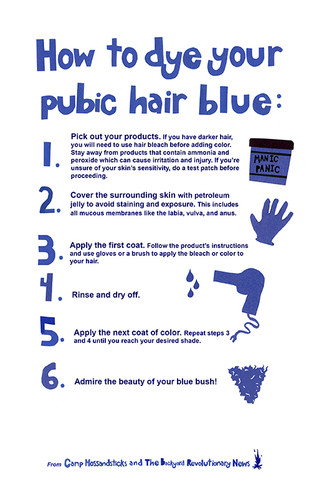 How To Dye Your Pubic Hair Blue!