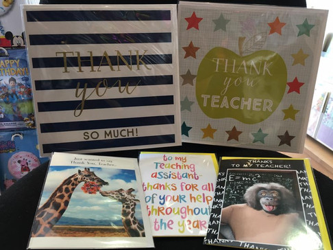 Thank You Teacher Greeting Cards