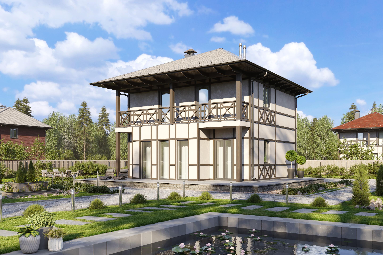 Доступный каркасный дом Романтичный