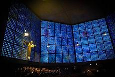 Church Interior at Night