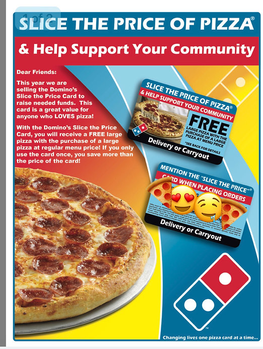 Just A Mile Away Mental Heath Services Inc. Fundraiser, Domino's Pizza, Donate $10 receive a free LARGE PIZZA