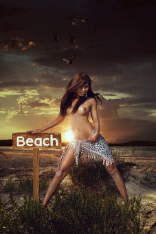 Adela at the beach by Peter Pickering Photography