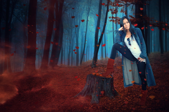 Adela in the forest by Peter Pickering Photography