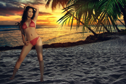 Adela on the beach by Peter Pickering Photography