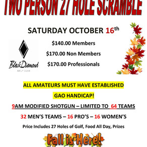 Join Us For Our 2021 Fall Scramble