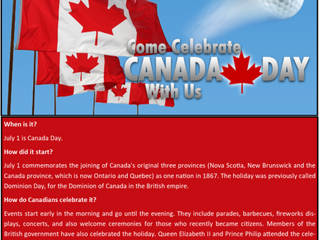 Canada Day Approaches