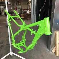 Peinture cadre moto