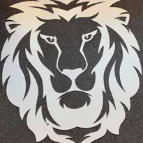 Thermolaquage tête de lion