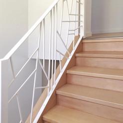 Peinture rampe d'escalier