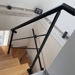 Réalisation d'une rampe d'escalier