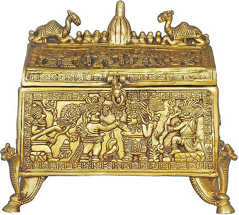 Tribal Treasure Box Decorated With Various Figures